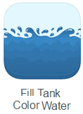 Fill tank color Water